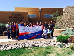 Ysleta del Sur Pueblo AmeriCorps Members and Team (outside of El Paso)