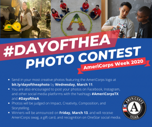 #DAYOFTHEA Photo Contest - AmeriCorps Week 2020