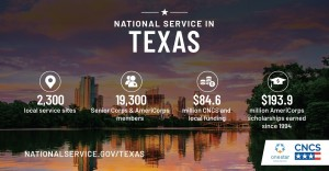 National Service in Texas 2019 Year in Review