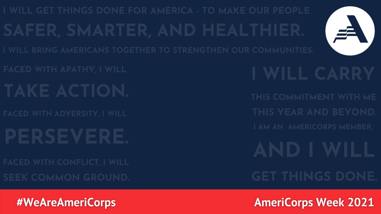 Virtual Video Background - AmeriCorps Pledge - AmeriCorps Week 2021