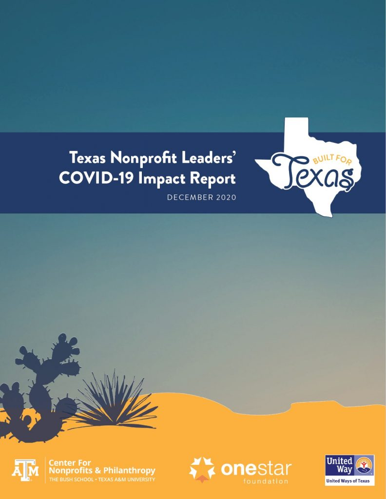 Texas Nonprofit Leaders' COVID-19 Impact Report Cover
