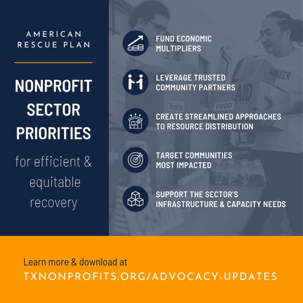 American Rescue Plan: Nonprofit Sector Priorities for efficient & equitable recovery